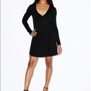 Dresses & Skirts - American Apparel wrap dress NWOT BLACK SZ S sexy